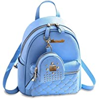 Alice Fashion Girls Bowknot 2-PCS Fashion Backpack Cute Mini Leather Backpack Purse for Women