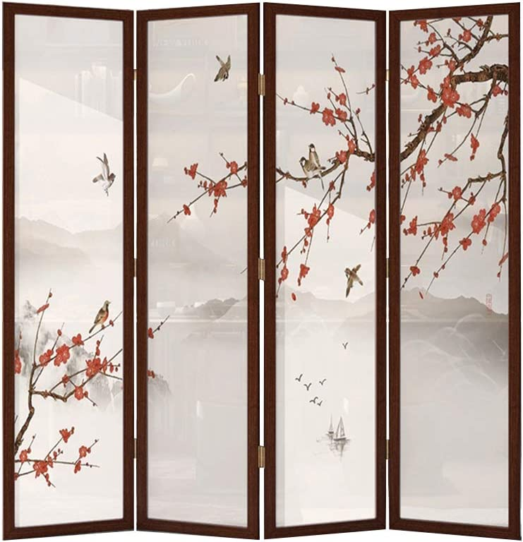 Even Room Partition Furniture Wall,Privacy,Chinese Solid Wood Screen Partition,Living Room Bedroom Office Hotel Simple Modern Folding Mobile Folding Screen