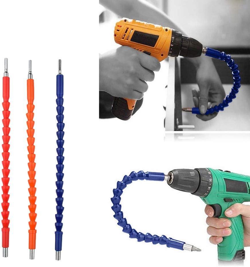 huichang Arbre Flexible Aimant/é Arbre flexible tete de Vissage embout mandrin renvoi d/'angle /à 90/° et plus Bleu rallonge /à cardan 29,5cm pour perceuse visseuse tournevis