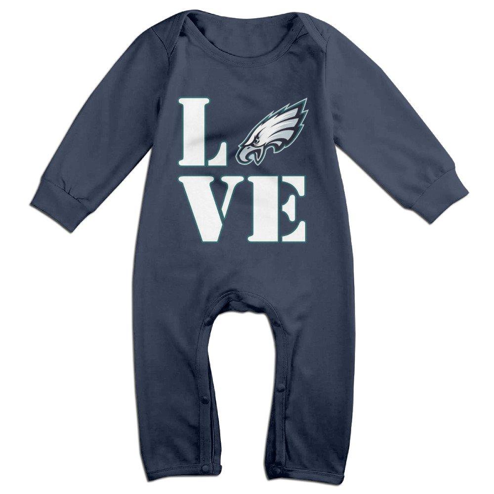 WLAXIDALA I Love Philadelphia Logo Eagles Baby Onesie Romper Jumpsuit Newborn Baby Clothes