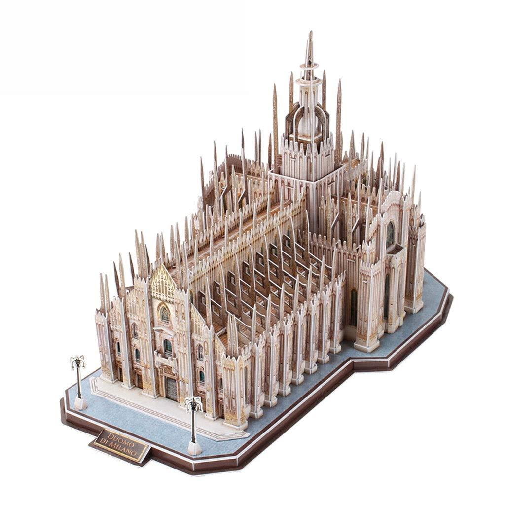 Lsxlsd 3D 立体木製パズル 子供用 教育玩具 手作りパズル ミラノ大聖堂建築モデル   B07R66C5C1