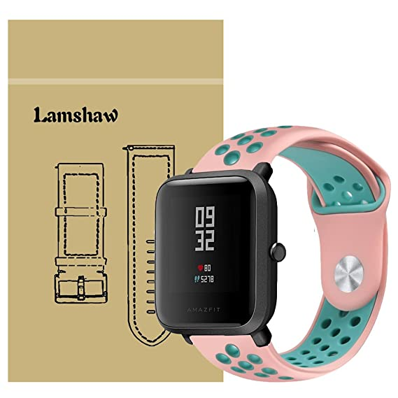 for Xiaomi Amazfit Bip Band, Lamshaw Silicone Soft Band with Ventilation Holes Replacement Straps for Xiaomi Huami Amazfit Bip Younth Watch ...