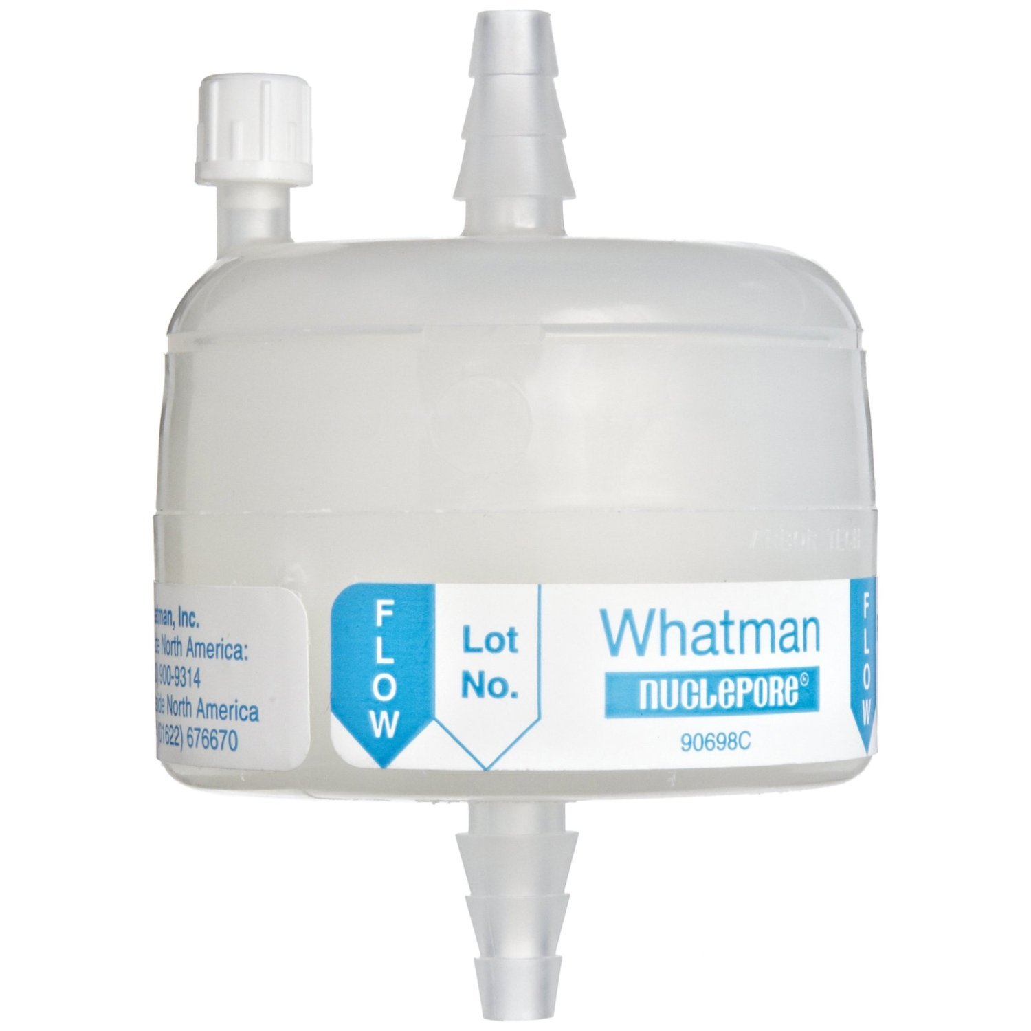 0.2 Micron 60 psi Maximum Pressure Whatman 6709-3602 Polycap AS 36 Nylon Membrane Capsule Filter with MNPT Inlet and SB Outlet