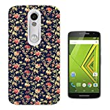 563 - Cute Vintage Shabby Chic Floral Roses Navy Design Motorola Moto X Play Fashion Trend CASE Gel Rubber Silicone All Edges Protection Case Cover