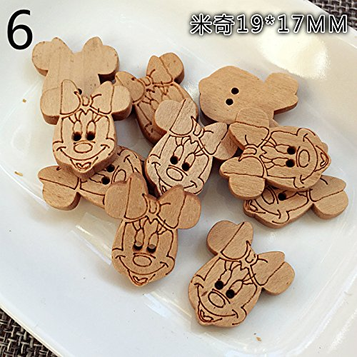 Cute pig wood color wooden buttons wooden buttons bear children animal animals wooden buckle wood buckle button for DIY Art Sewing Sew Tailor Clothing Craft