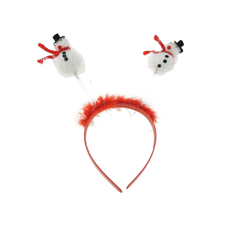 Christmas Snowman Boppers Headband Head AliceBand Xmas Fancy Dress Accessory UK