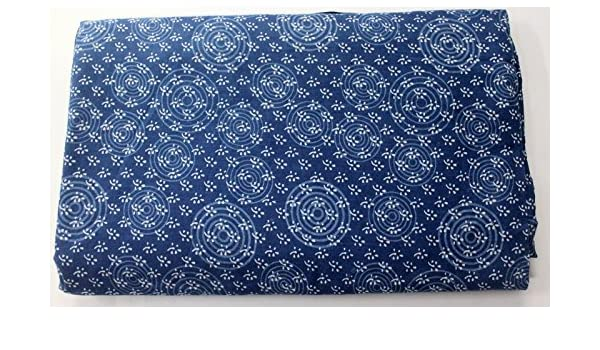 WIDE INDYGO BLUE POLY COTTON-60 BY THE YARD