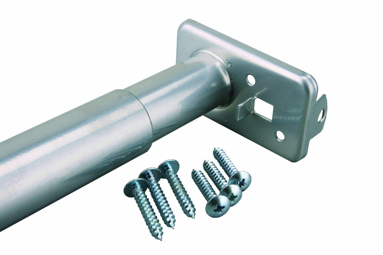 30-Inch to 48-Inch Platinum John Sterling RP0022-30//48 Adjustable Closet Rod