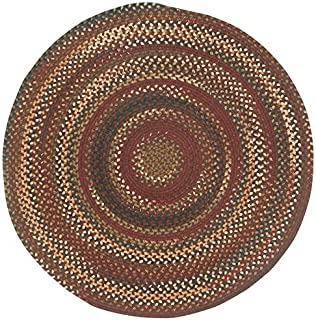 "product image for 1'3"" x 1'3"" Round Made-to-Order Capel Accent Rug 0070CS0015500 Cinnamon Color Hand Braided in USA ""Bangor Collection"""