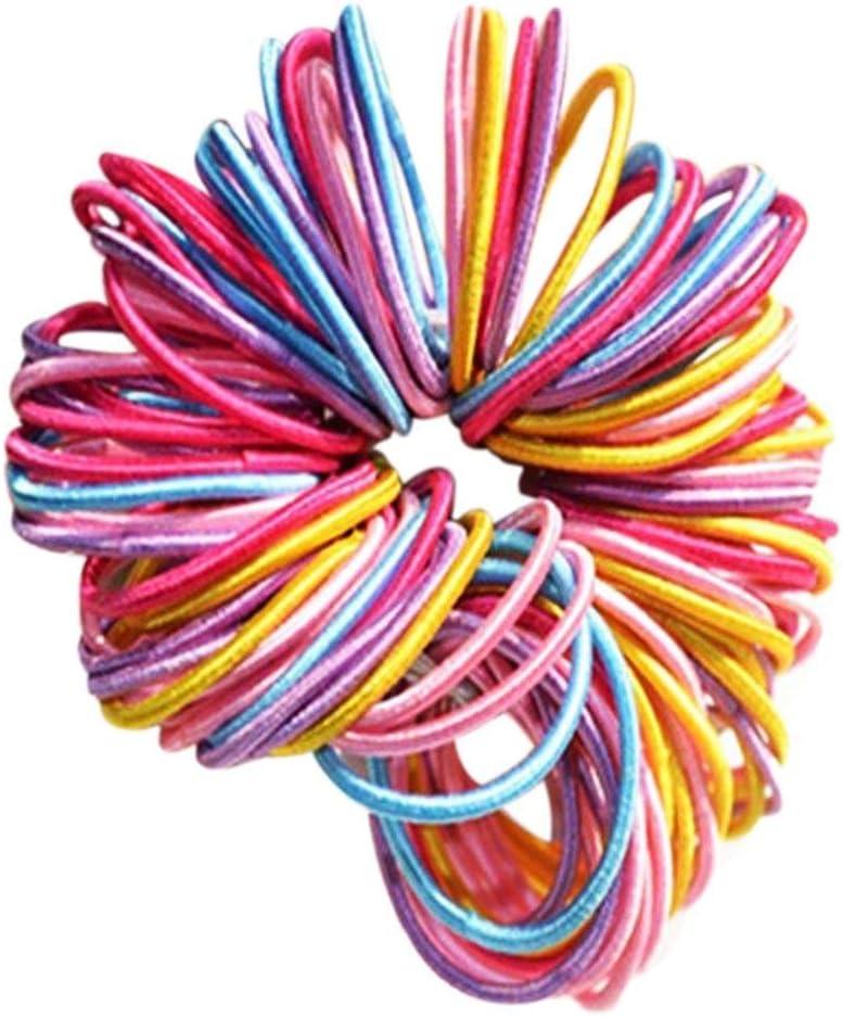 16 Strong Mix Thin Thick Endless Snag Free Hair Elastic Bands Bobbles Girls Kids