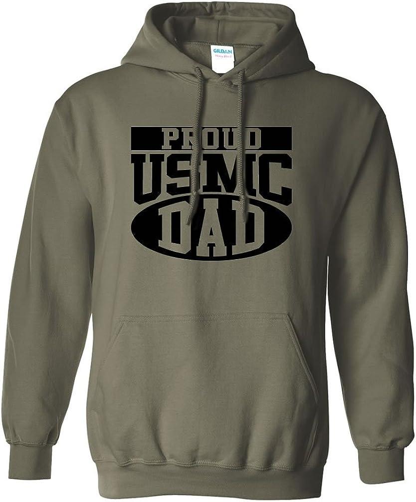 zerogravitee Proud USMC Dad Hooded Sweatshirt