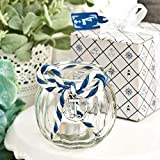 55 Anchor Nautical Themed Clear Glass Round Globe Candle Holders