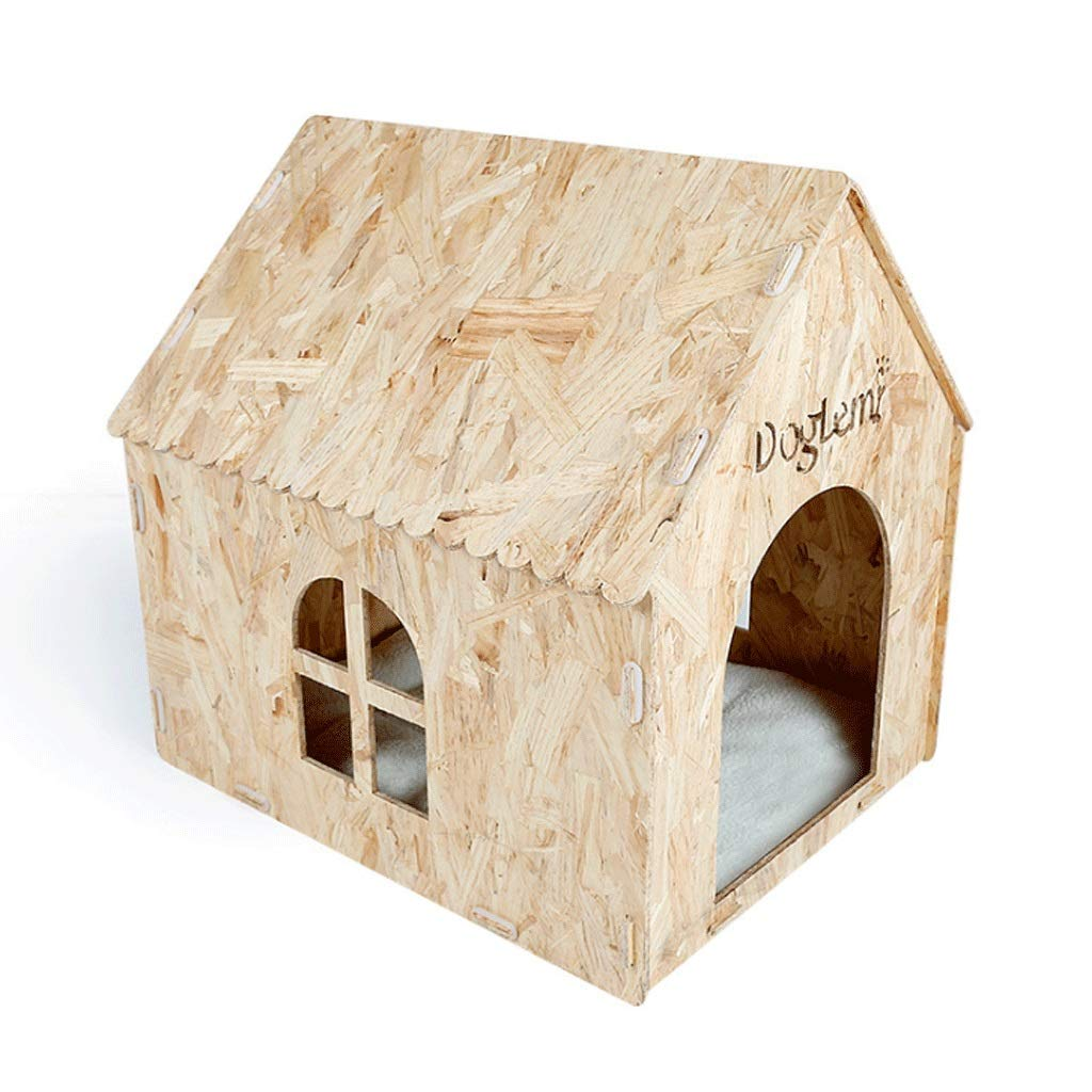 Chalet (57X50X58Cm) Chalet (57X50X58Cm) Pet Beds Osong Wooden Four Seasons Kennel Dog Bed Teddy Cat Indoor And Outdoor Pet House Will Breathe Wooden Room A+ (color   Chalet, Size   (57X50X58Cm))