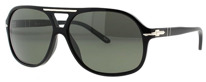 84f1bfa3533dd Amazon.com  Persol Sunglasses PO2958 S 95 58 Black Crystal Green ...