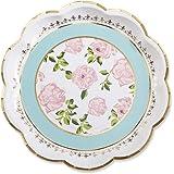 Kate Aspen 28310NA Tea Time Whimsy Paper Plates (Set of 8)