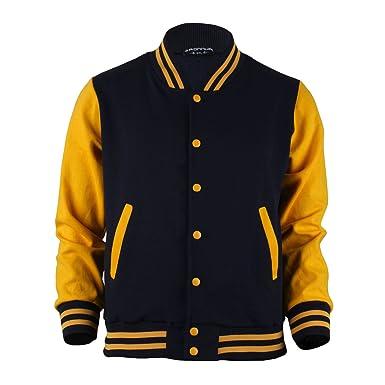 Jacke gelb blau