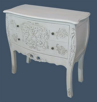 French Shabby Chic Furniture Handcarved Chest Of Drawers In Antique