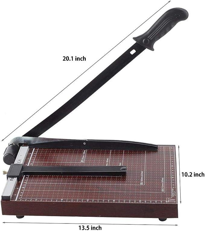 Color : Black Nai-storage Heavy Duty 300MM Corte Trimmer Uso Industrial 400 Hojas Capacidad A4 B7 de Papel Guillotina de Papel Corte Profesional