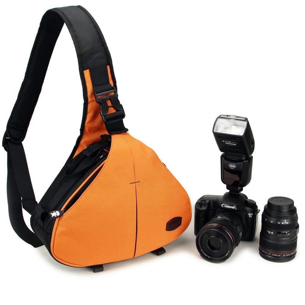 Caseman C10 Naranja Funda de cámara réflex digital bolsa de hombro ...