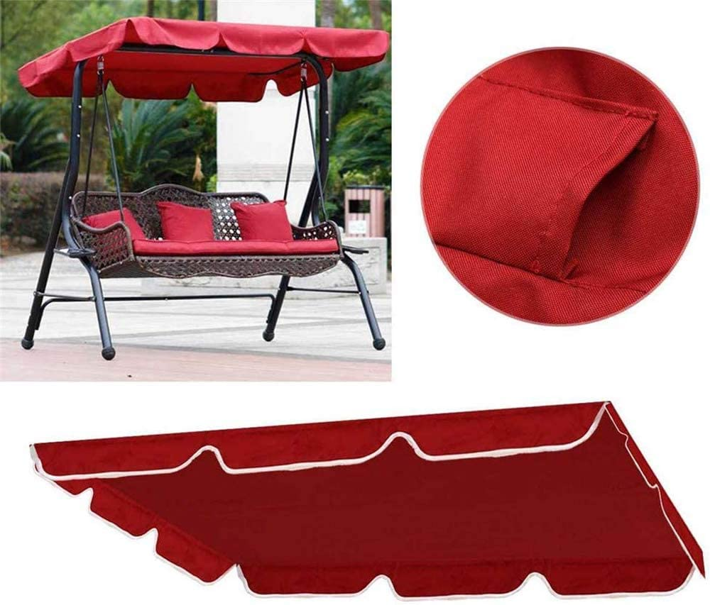 RZiioo Swing Canopy Replacement Porch Top Cover for 3 Seater Sizes Outdoor Porch Patio Yard Garden Hammock