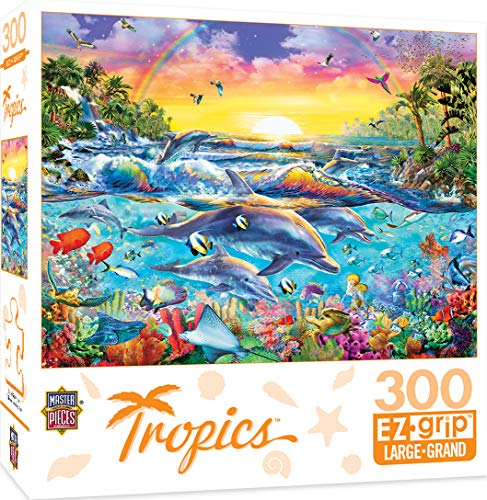 MasterPieces Tropics Sea of Eden Large 300 Piece EZ Grip Jigsaw Puzzle by Adrian Chesterman -