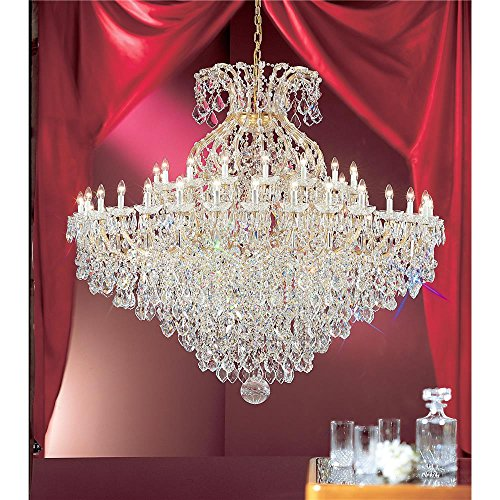 """Classic Lighting 8188 OWG S Maria Theresa, Crystal Traditional, Chandelier, 74"""" x 74"""" x 74"""", Olde World Gold"""