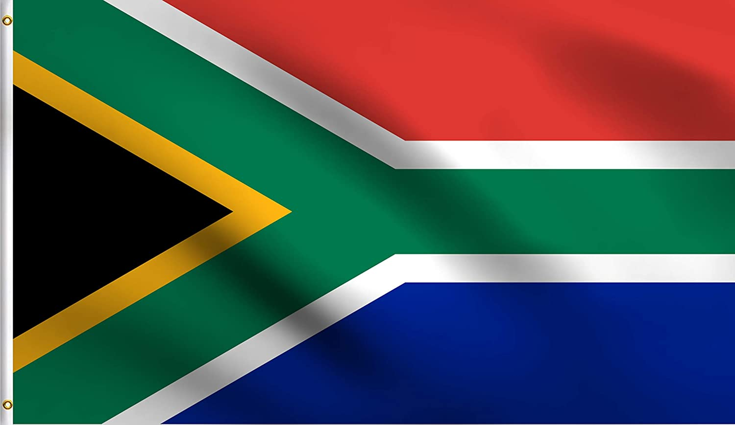 DMSE New NationalRepublic of South Africa African Flag 2X3 Ft Foot 100% Polyester 100D Flag UV Resistant (2' X 3' Ft Foot)