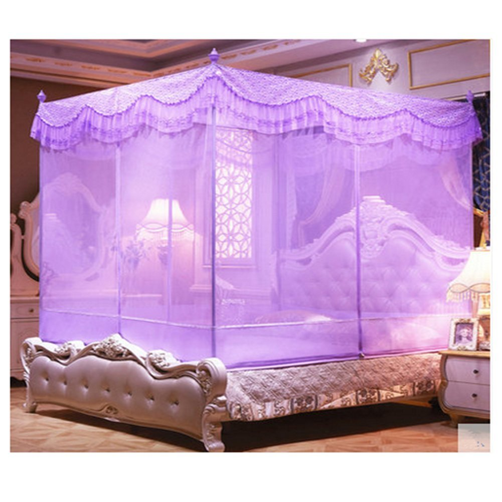 LSS Bett Typ Reißverschluss Seite Konto Princess Wind U Tür Netze,lila