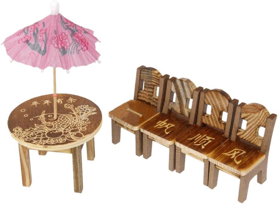 Simulated Chair Wooden Micro Garden Decoration Miniature Fairy Cute Mini Resin