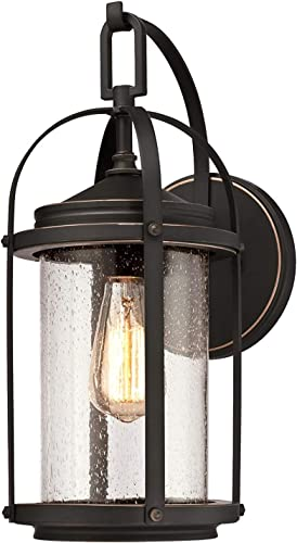 Westinghouse Lighting One-Light Outdoor Lighting,Oil Rubbed Bronze Finish with Highlights and Clear Seeded Glass Grandview Wall Fixture
