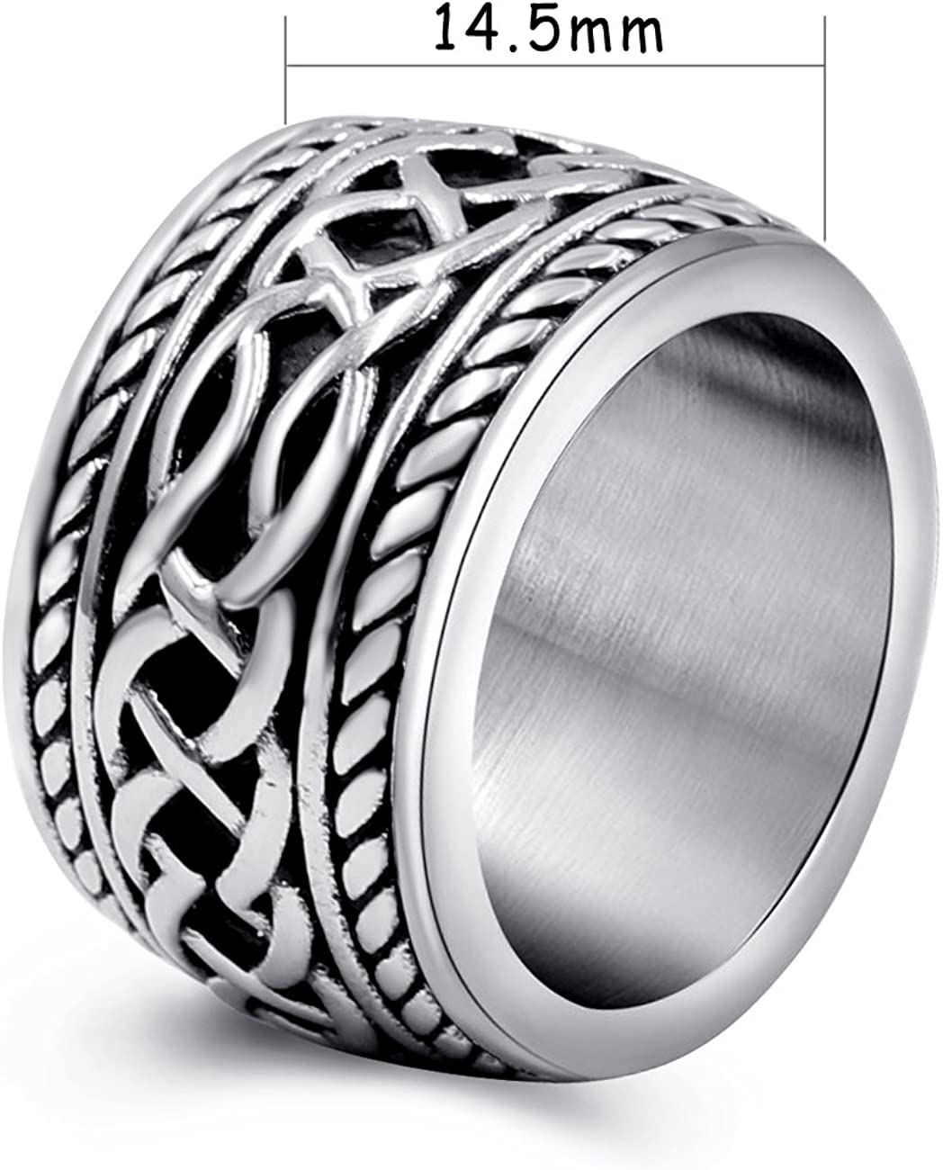 Men/'s Stainless Steel Three Toned Wedding  Ring Sizes 9-13