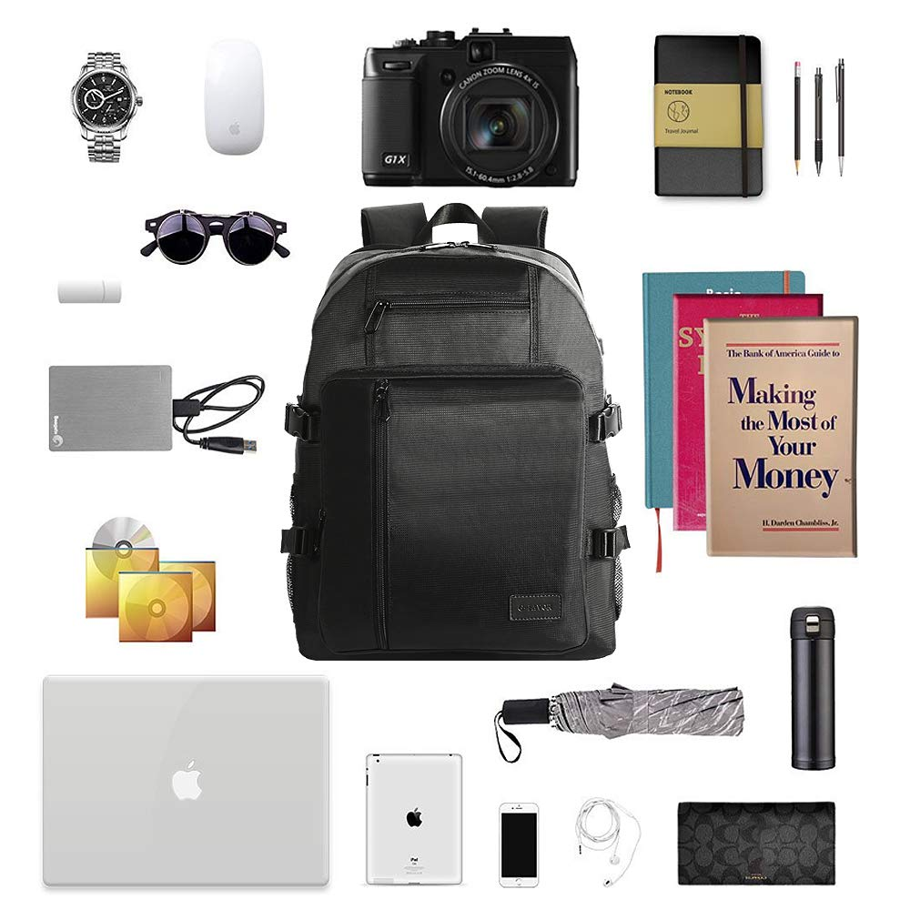 912c1ba328ba70 G-FAVOR Laptop Backpack with USB Charging Port Water Resistant Casual  Computer Rucksack Daypacks for