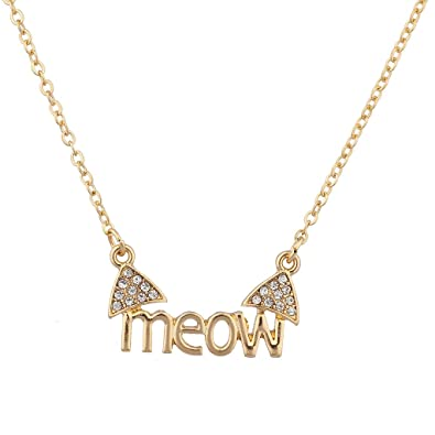 130b261e77d2 Amazon.com  Lux Accessories Cat Ears Meow Kitty Pave Animal Lover ...