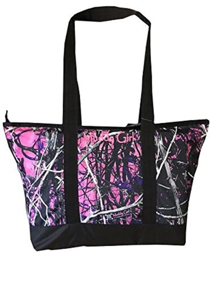 Muddy Girl Camo Beach Camp Shopping Diaper Bag Purse Tote Jp Purple Pink (Muddy Girl Purple Pink)