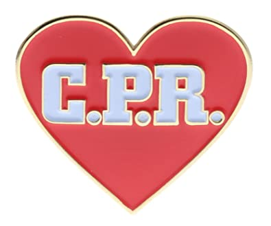 CPR Red Heart Shaped Hat Or Lapel Pin AVAP0128