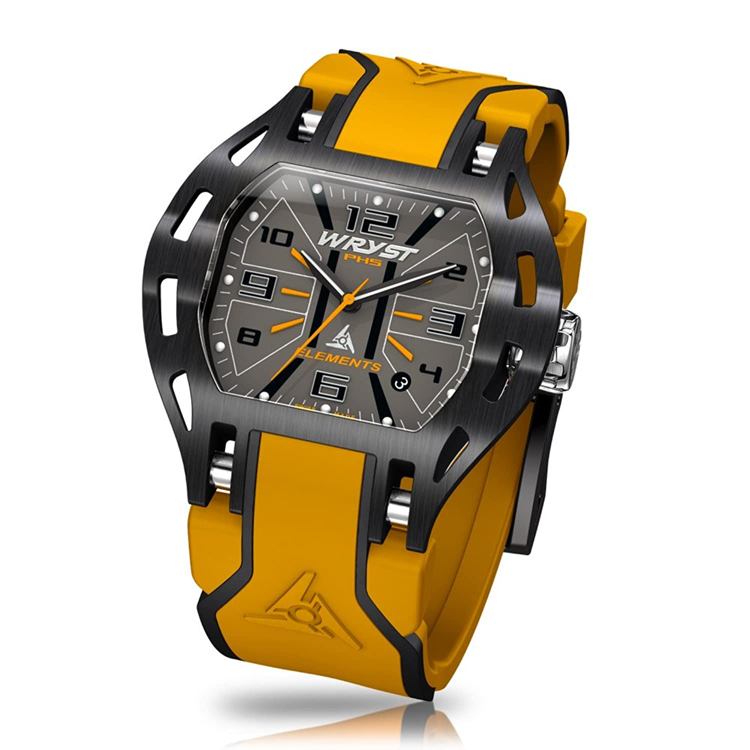 Schwarz Swiss Orange Armbanduhr wryst Elements PH5