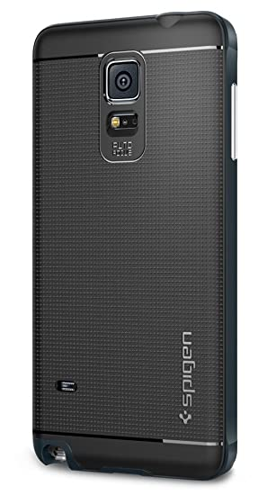 watch c9297 80ed9 Spigen Galaxy Note 4 Case Neo Hybrid Metal Slate SGP11119