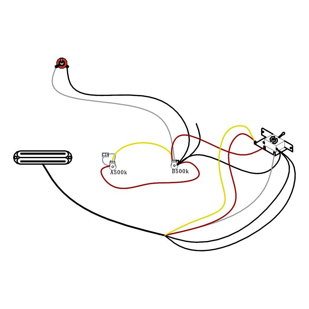 Circuito De Cableado con Recogida De La Guitarra Electrica: Amazon.es: Instrumentos musicales