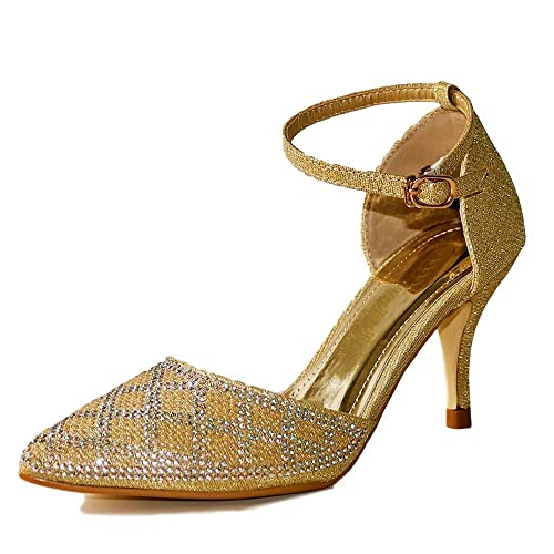Tacón Styles 42 On De Rock MujerColor DoradoTalla Zapatos IY2WDH9E
