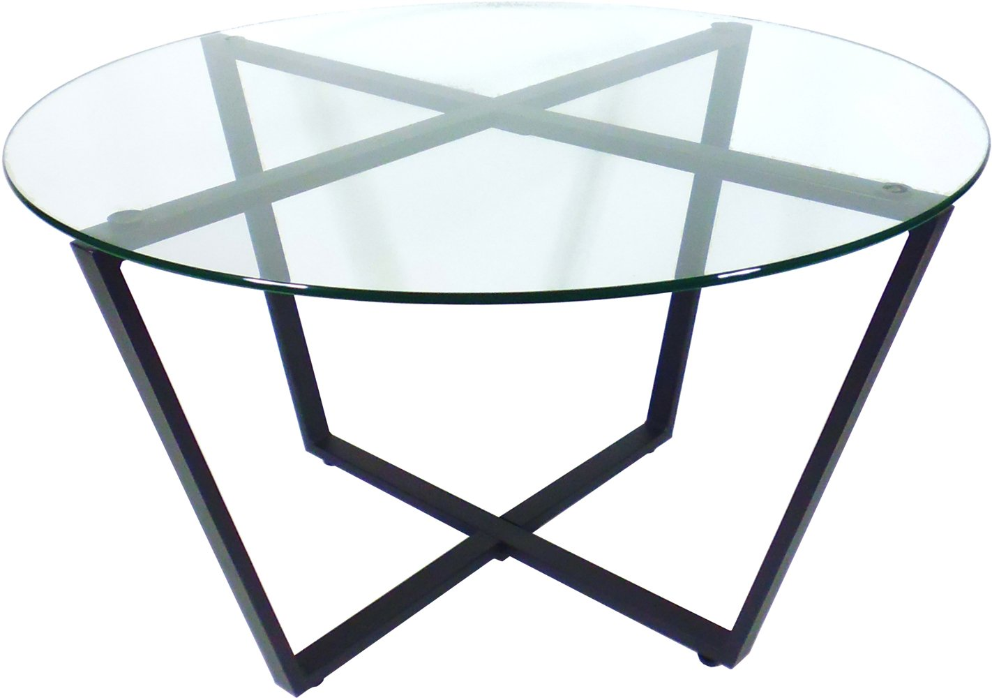 Glass End Table Clear Top Black Base Living Room All Occasional Table Ebay