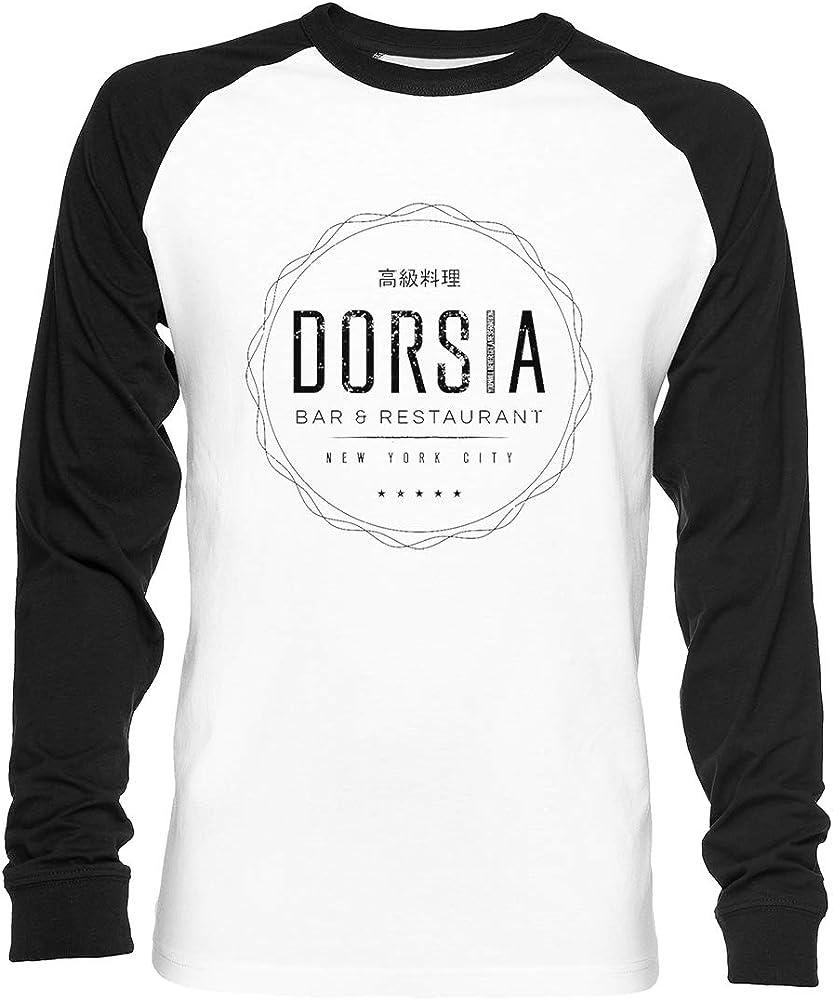 Dorsia (Aged Look) Unisex Camiseta De Béisbol Manga Larga Hombre Mujer Blanca Negra: Amazon.es: Ropa y accesorios