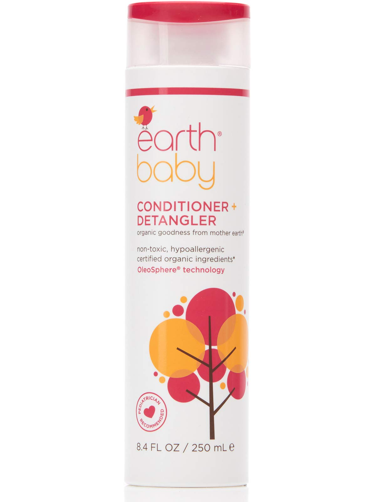 Earth Baby Conditioner + Detangler, Hypoallergenic for Sensitive Skin, Natural and Organic, for Babies Toddlers and Kids…