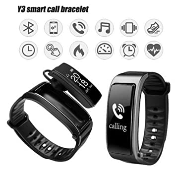 Madprice SMARTWATCH Auriculares Bluetooth Y3 TALKBAND Heart Rate ...