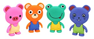 Little Treasures Squeaking and Squeezing Animal Bath Toys Floating Bathtub Characters for Babies and Toddlers