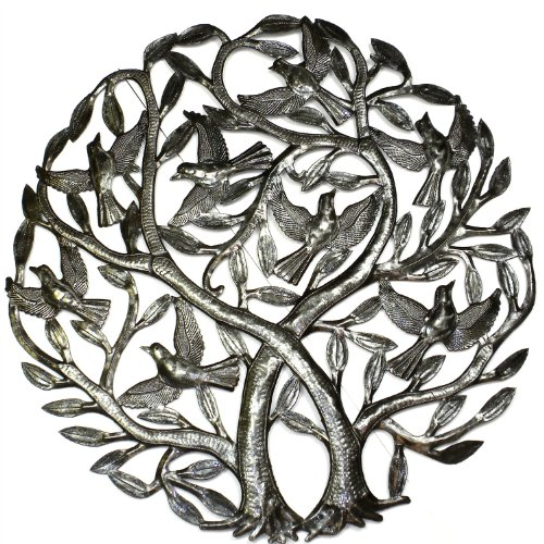 Double Tree of Life Metal Wall Art 24-inch (Life Metal)