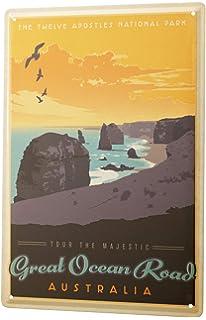 Viaje Por El Mundo Cartel de chapa Placa metal tin sign Parque Nacional de Australia carretera de la costa Letrero Decorativo…