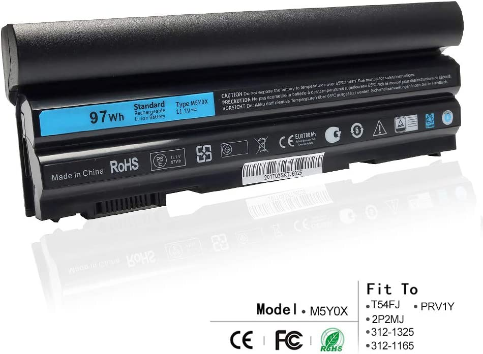 LQM 11.1V 97Wh 9cell New Laptop Battery for Dell Latitude E6420 E6430 E6520 E6530 E5420 E5520 E5430 E5530,Compatible P/N: M5Y0X T54FJ 2P2MJ 312-1325 312-1165 PRV1Y