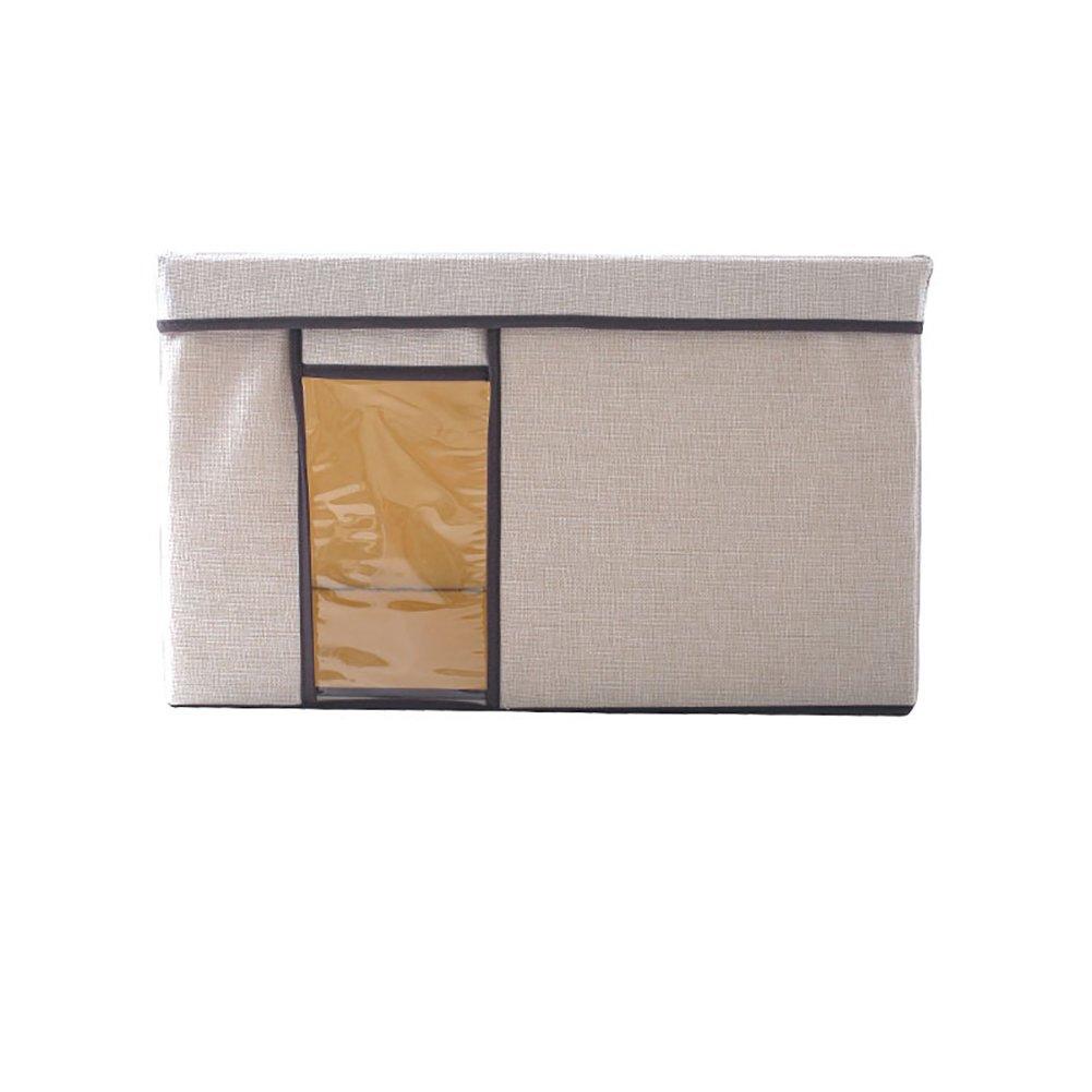 JPPSNH 大容量和風シンプルファッションウィンドウデザイン大容量折りたたみイミテーションリネン素材カバー付き多機能収納ボックス (Color : Gray, Size : 41.5*31*25.5cm) B07T15VSYJ Gray 41.5*31*25.5cm