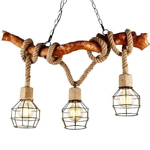 XYJGWDD Lámpara Colgante Industrial de 3 Luces Iluminación de ...