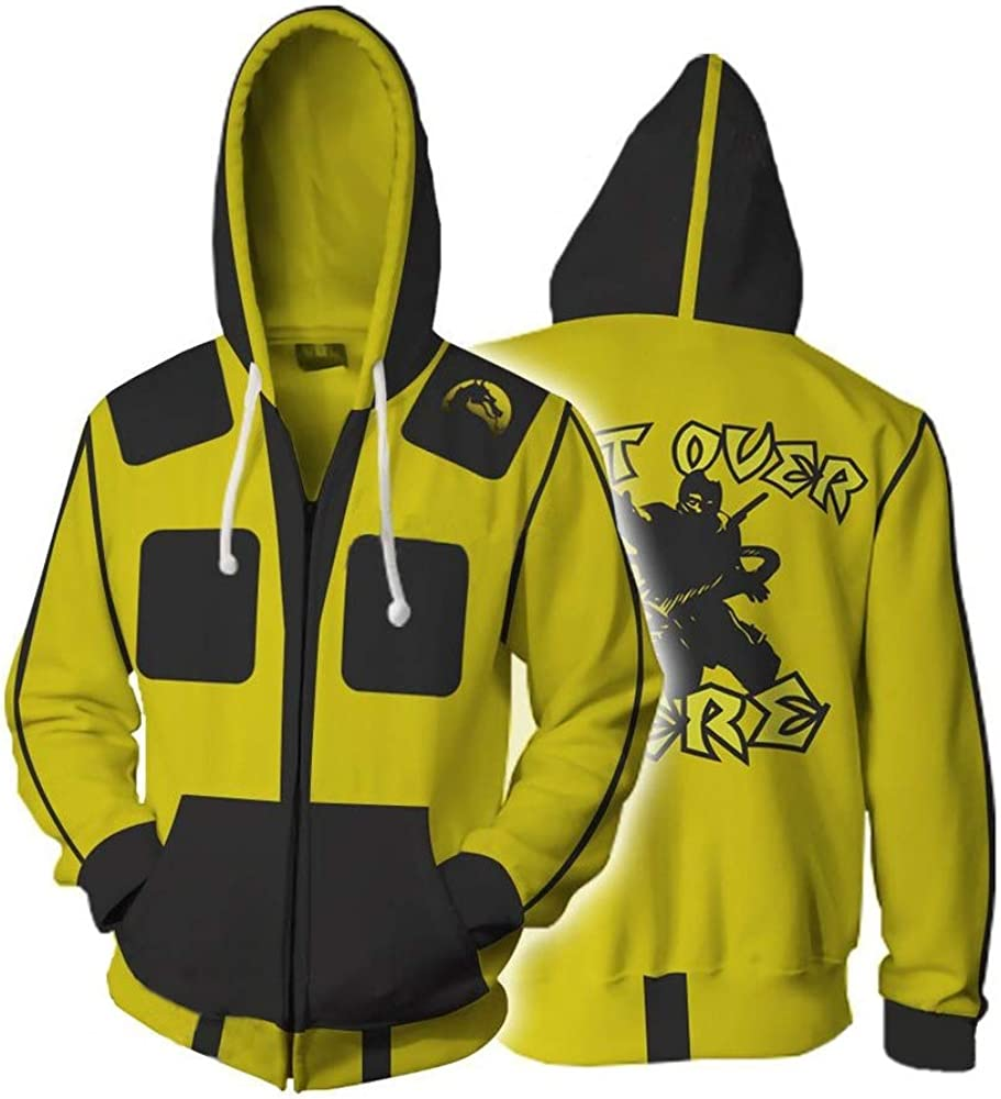 ZXFD058 The 2019 New Game Mortal Kombat 11 Sweater 3D Printed Cardigan Hoods